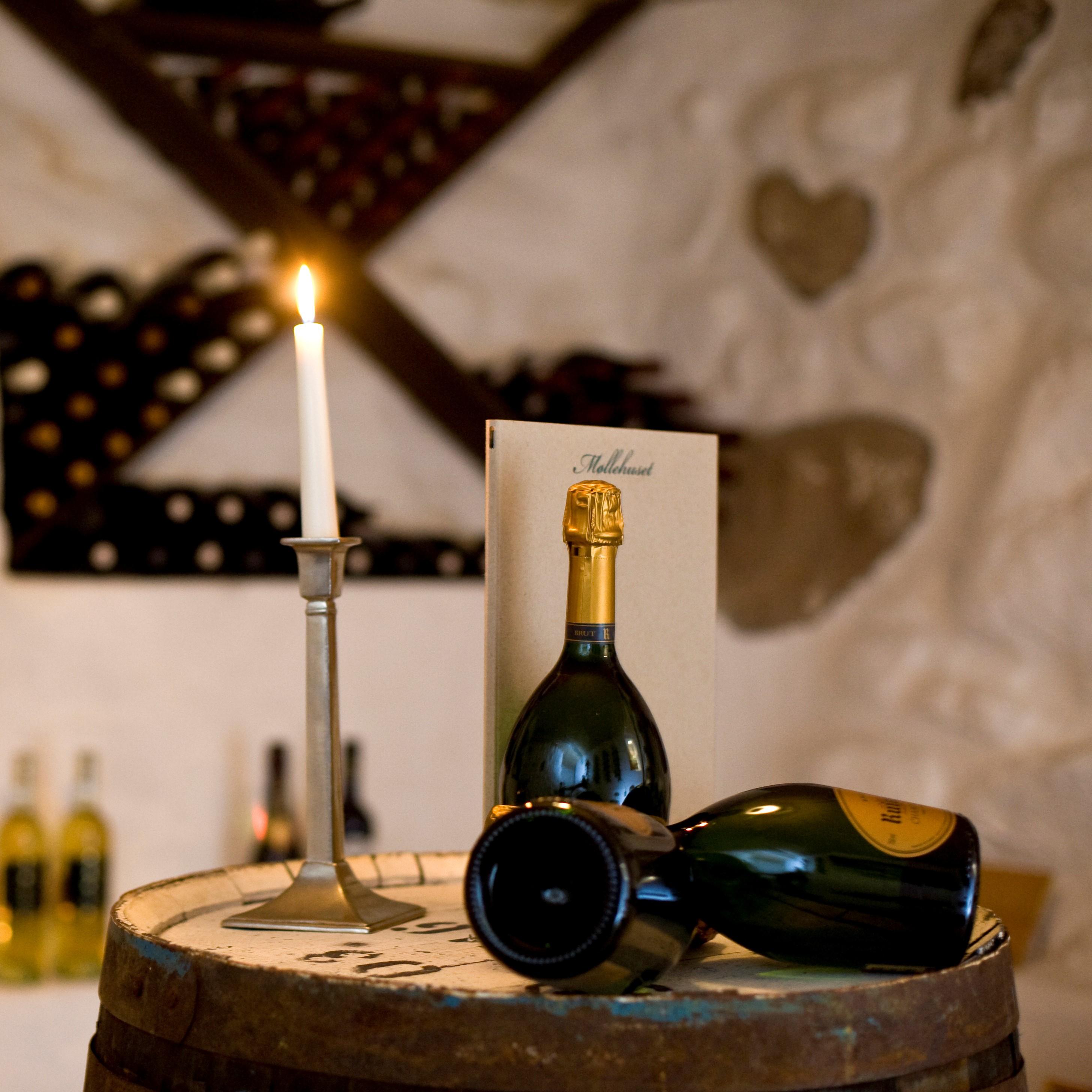 Restaurant Møllehuset frederikshavn vinkælder vin
